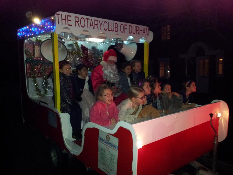 The Christmas Sleigh - 2014 - Lots of youngsters enjoying Santa's visit