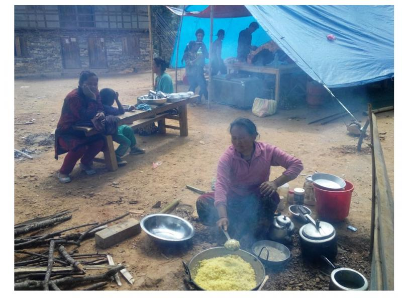 Mirge Nepal Update 1 - Cooking outside