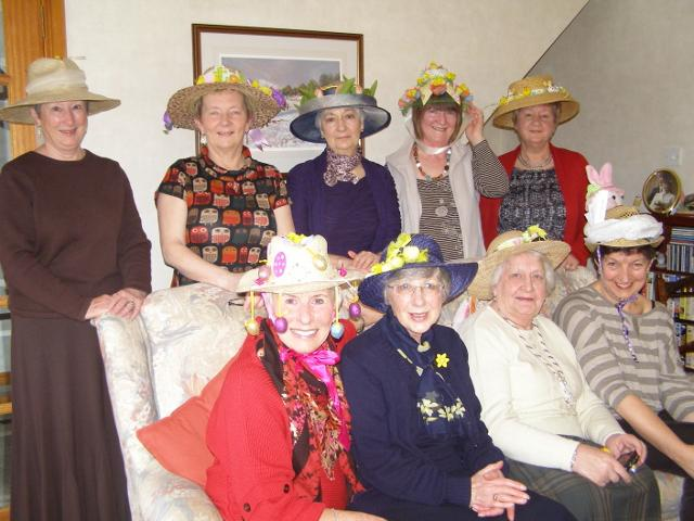 Rotary Ladies Easter Hats - Some of the ladies in their Easter bonnet creations.