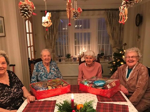 Christmas Hamper Appeal 2020 - Some of the pensioners who received hampers in 2019