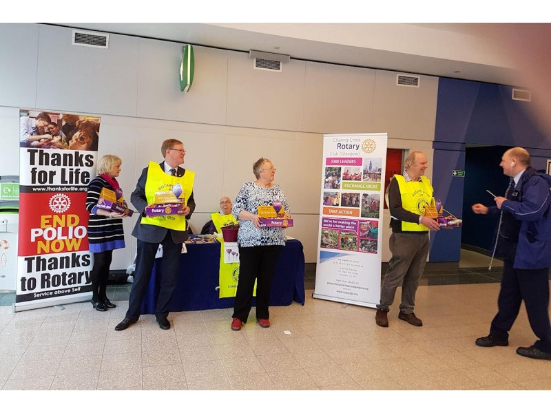 Rotary Foundation - We collected £330 on that day