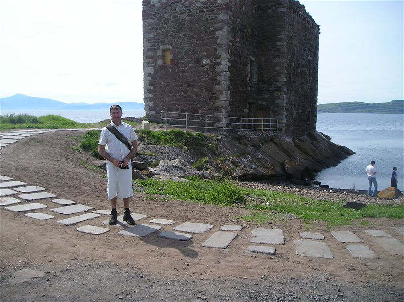 Sponsored Walk  May 2010 - 31/5/10 John at Portencross Castle