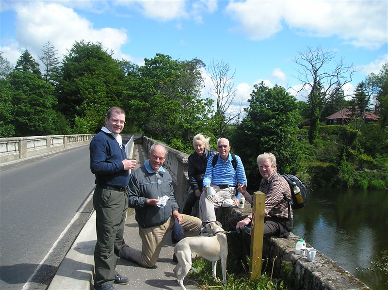 Sponsored Walk  May 2010 - 30/5/10 With Gavin and Helen at Tarholm Bridge