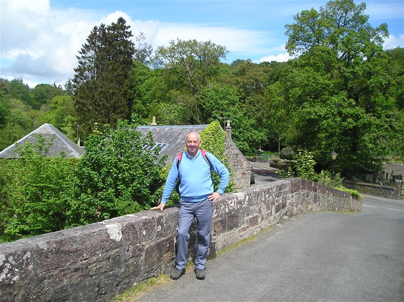 Sponsored Walk  May 2010 - 28/5/10 David at Sorn Bridge