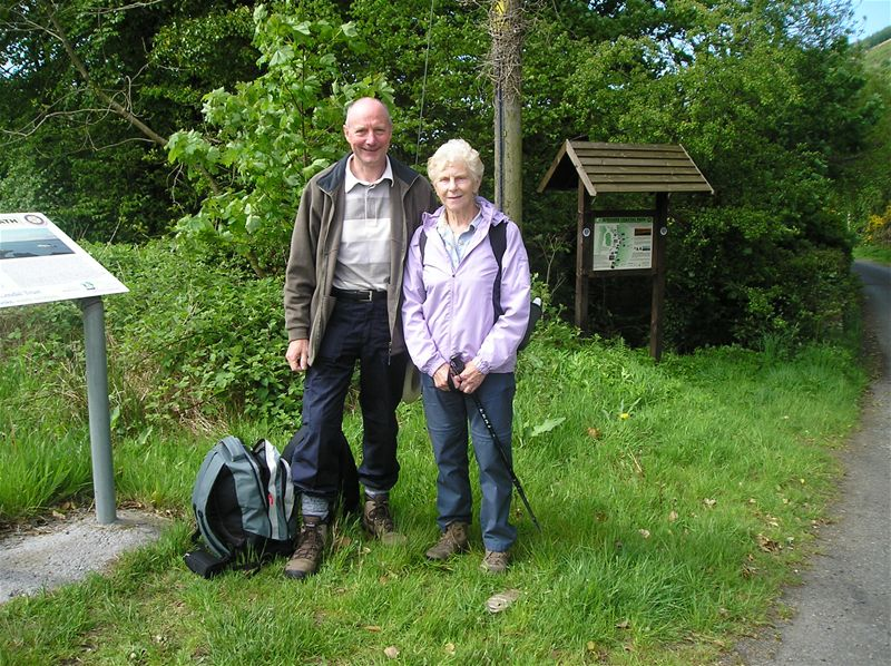 Sponsored Walk  May 2010 - 24/5/10 Hamish and Margaret Mullen at Glenapp