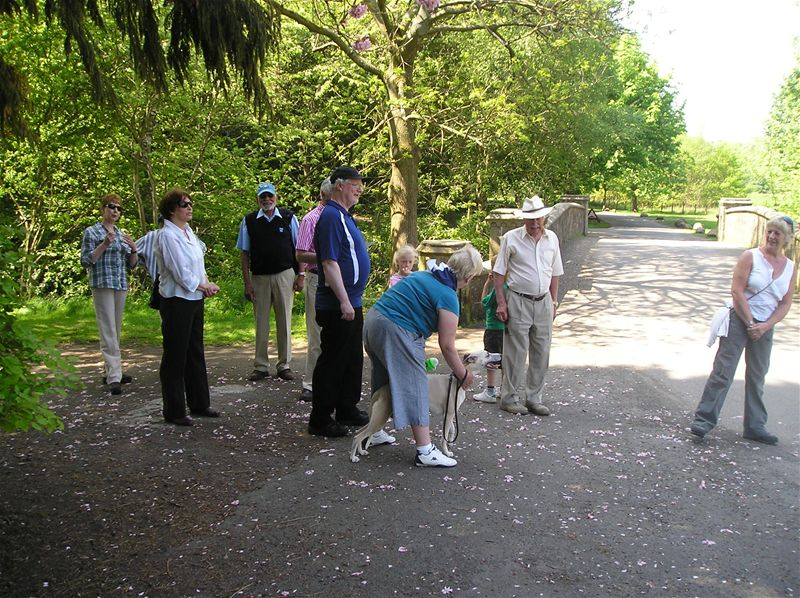 Sponsored Walk  May 2010 - 23/5/10 Eglinton Country Park - social walkers gather