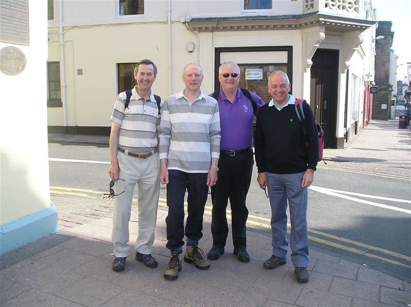 Sponsored Walk  May 2010 - 23/5/10 David Hill, Hamish Hyslop, Alex Steven and David Johnstone starting from Sandgate, Ayr