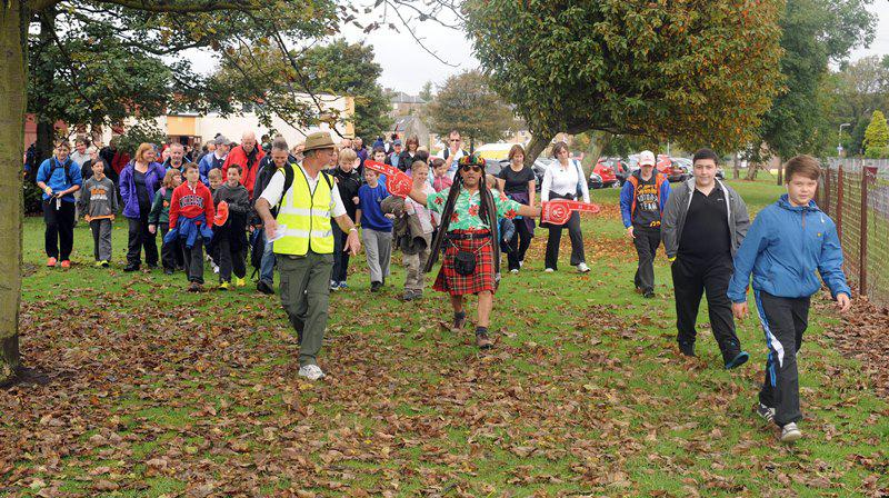 Charity Walk Sept 2014 - Picture by David Wardle