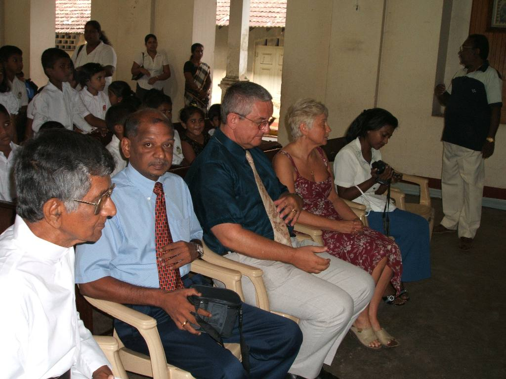 Tsunami Disaster - 1 year on (2006) - At Catholic Church with Father Christie and Kitto who supervised the work