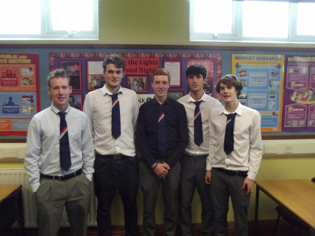 End Polio Now - Joel Shields, Scott Allen, Chris Craine, Philip Knox and Andrew Brown from St. Ninian's High School who raised