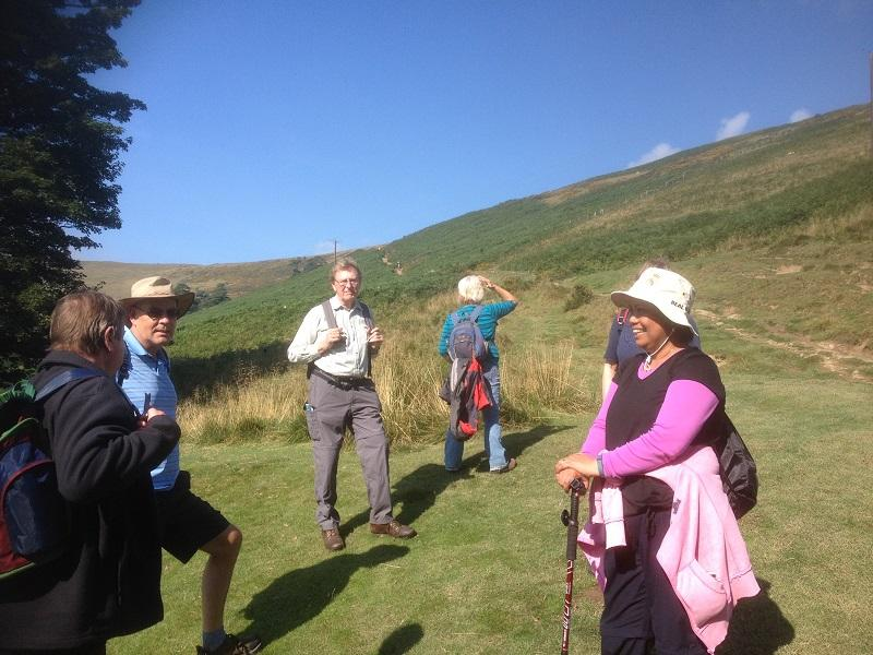 Derbyshire 2015 - Just setting off on our ascent of Mam Tor