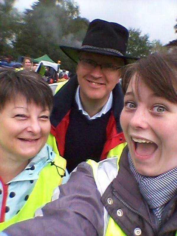 Abergavenny Steam Rally - Steam Rally    Rotary President Martin Phillips gets in on a selfie