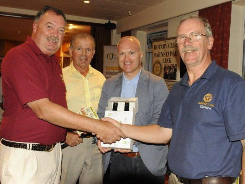 CHARITY GOLF DAY AUGUST 2013 - Steve Sherry from Bideford Bridge takes the individual Fellowsghop Trophy prize