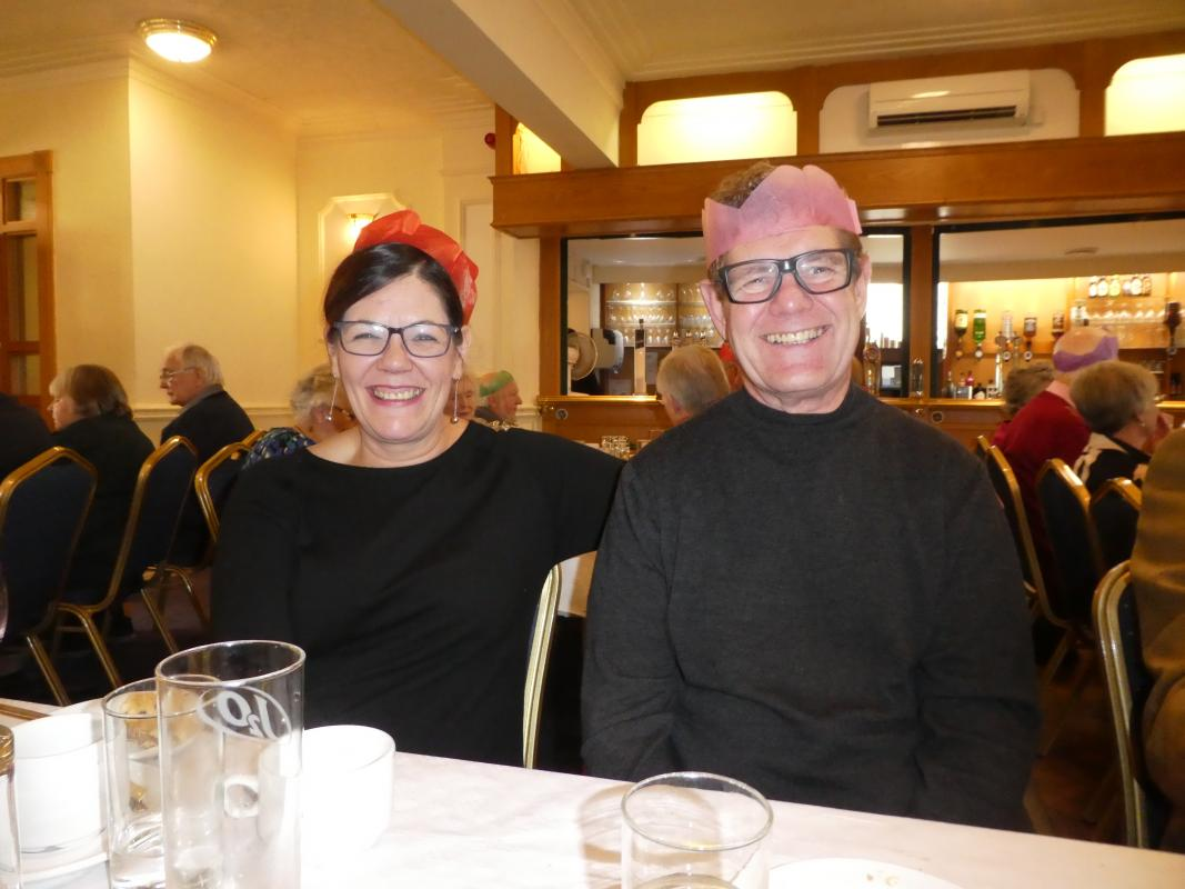 Christmas Lunch - Guests Steve & Denise Lawson from Nantwich Bookshop
