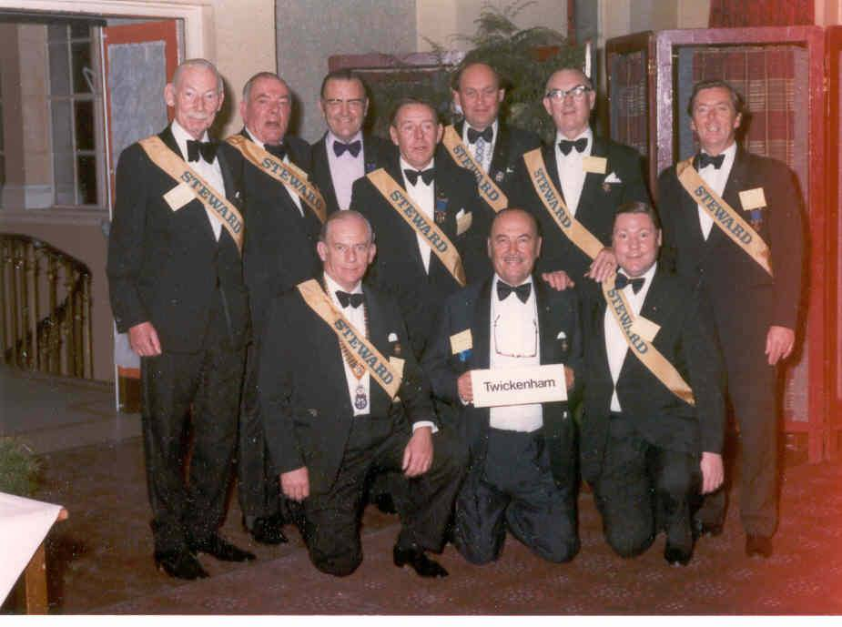 Club Members - Club Members supporting Len Smith in his year as District Governor 1977.