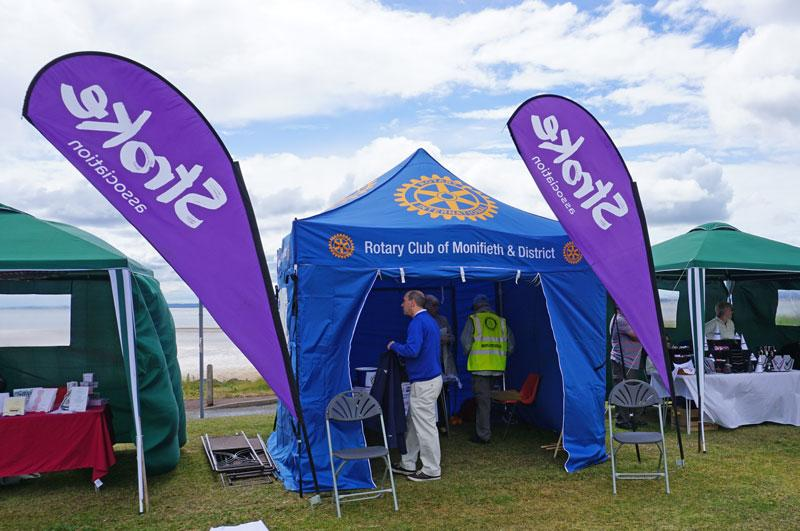 Medieval Fair - The Stroke Awareness tent where members of the public could have their blood pressure checked.