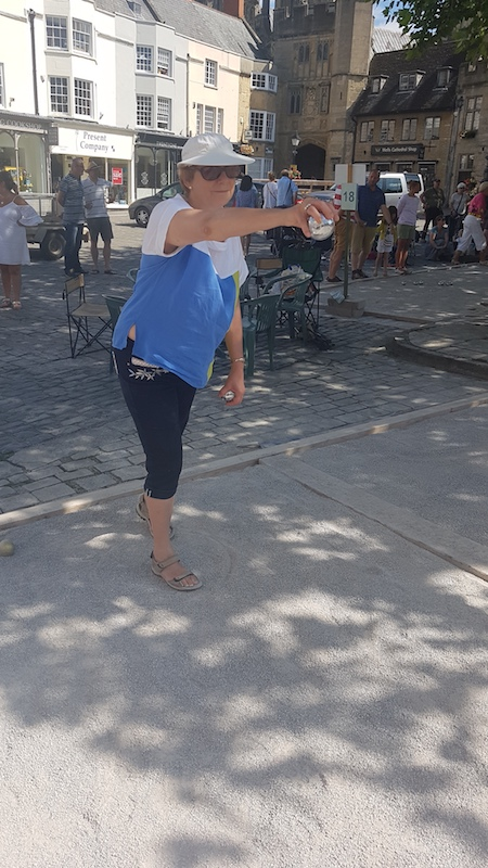 Wells Boules Tournament July 2018 - Sue L - focusing
