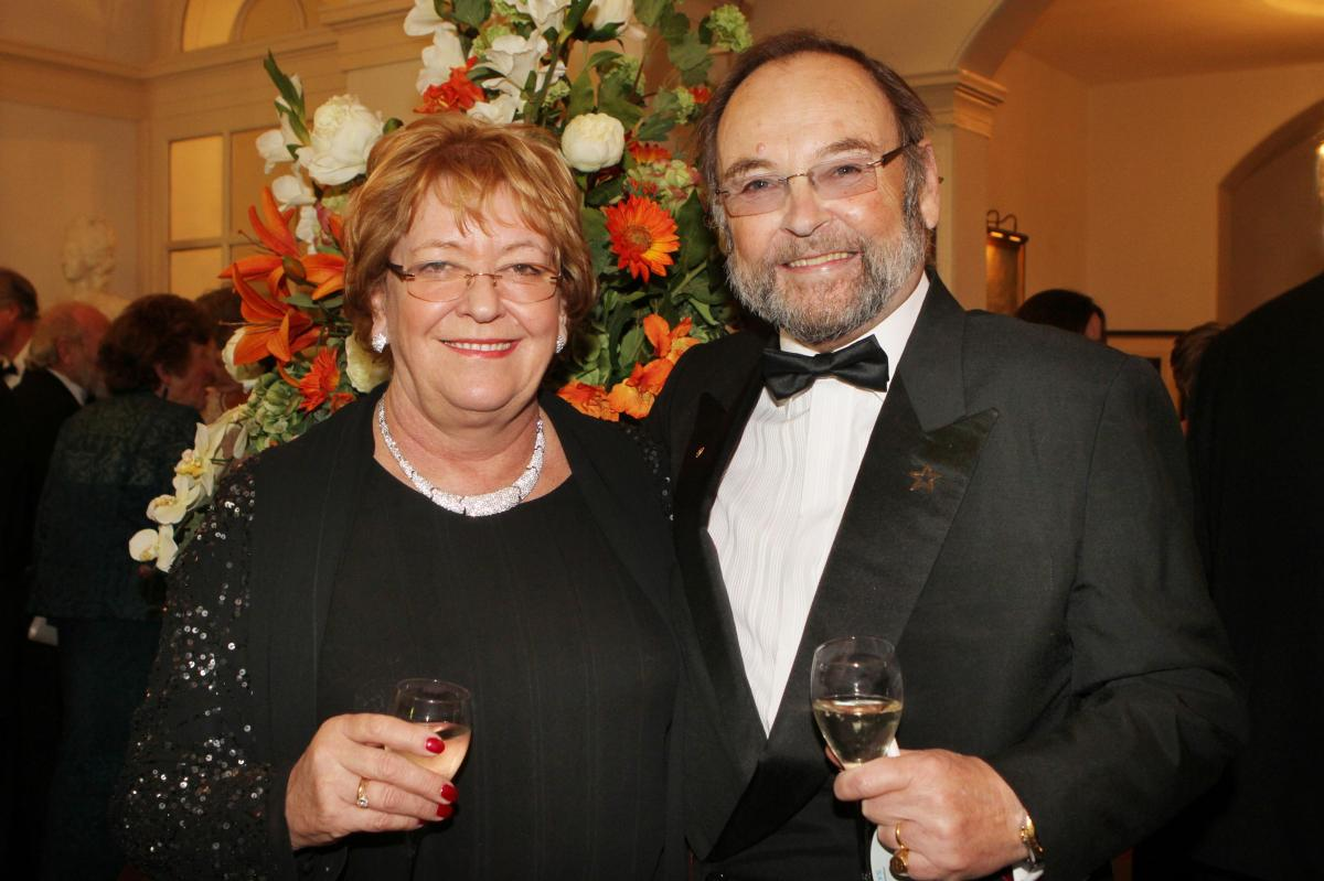 Cheltenham North Charter Anniversary Dinner 26th April 2012 - Susie and Roger Barclay- Edwards