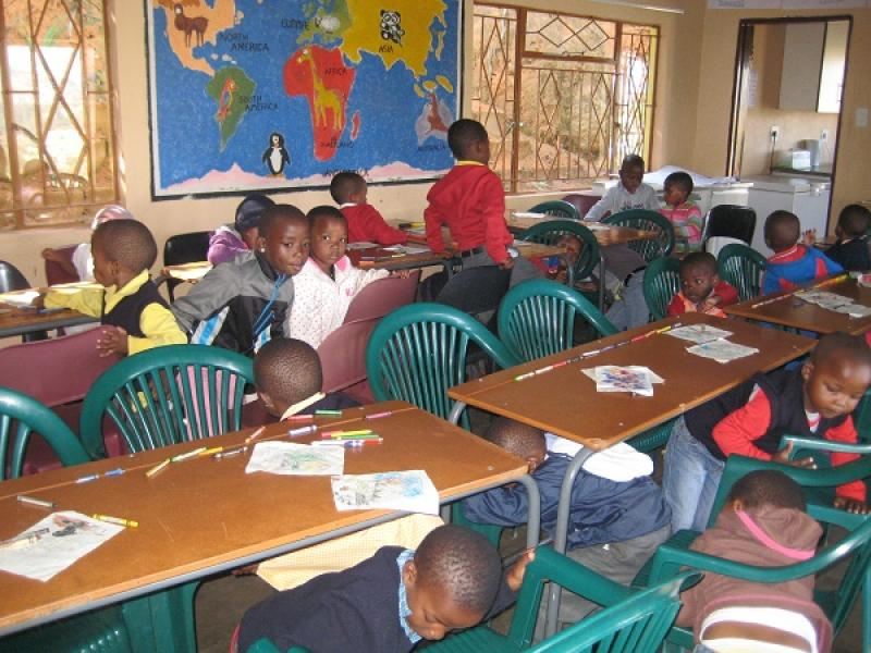 Rotary Working in Swaziland 2015 to date - Children learning in a classroom