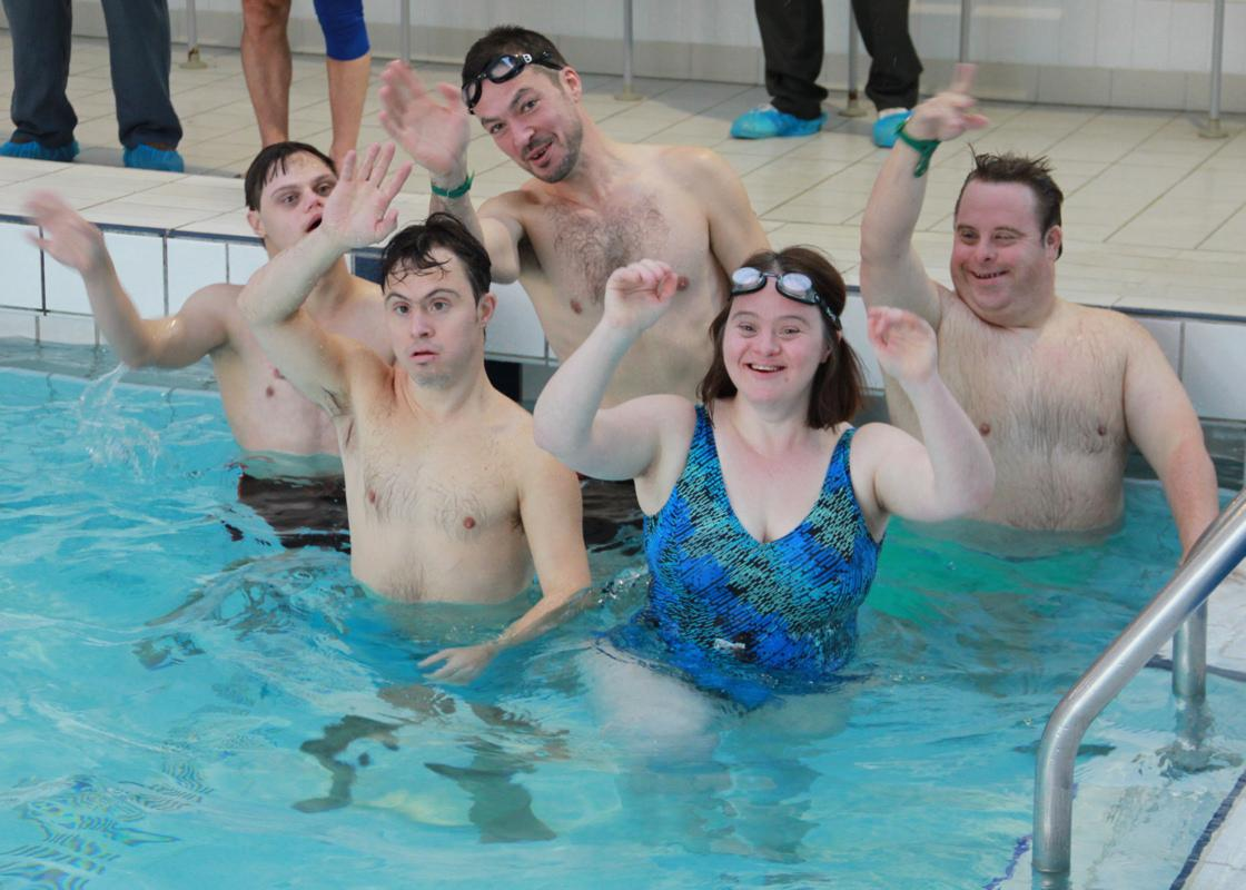 Annual Swimathon - the ninth! - ... these youngsters certainly have talent - The Dad's Army Team.