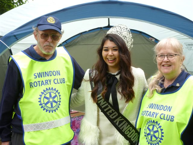 Swindon Old Town Festival 2018 - Miss UK visits Rotary
