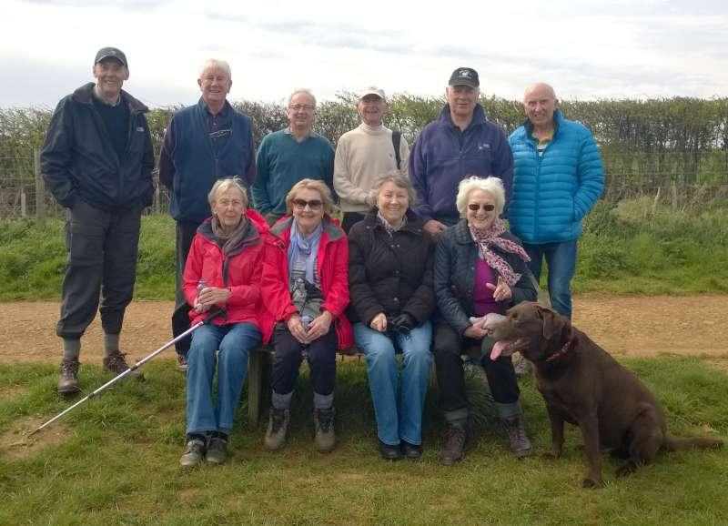 Club Walk from the World's End, Ecton - time for a revised group photo