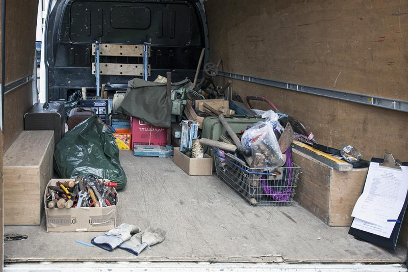 Collection of unwanted tools for TFSR - Near the Market House in Thame on 25 May 2013