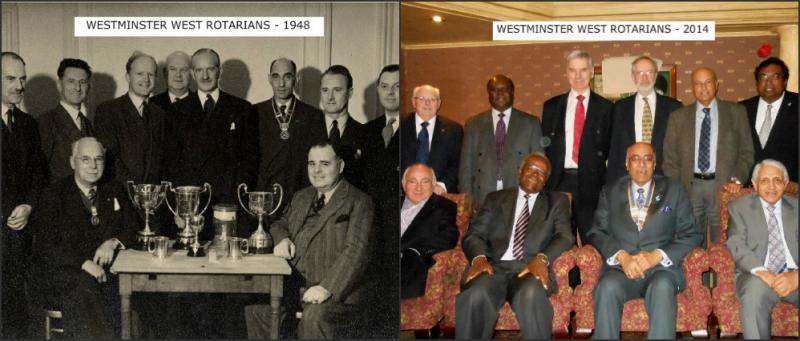 THE ROTARY CLUB OF WESTMINSTER WEST - Then and Now - from the Formal to the Informal