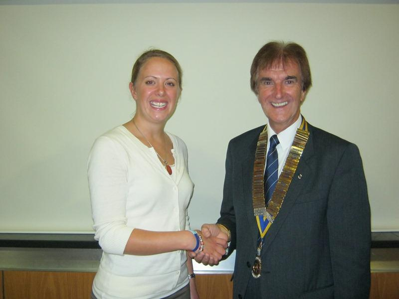 Club Meeting and Ladies Evening - TREVOR PARRY WITH FLT LT ALISON MCDOWELL (small)