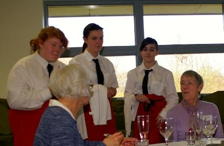 We're for Communities - Redborne School catering students made us lunch.