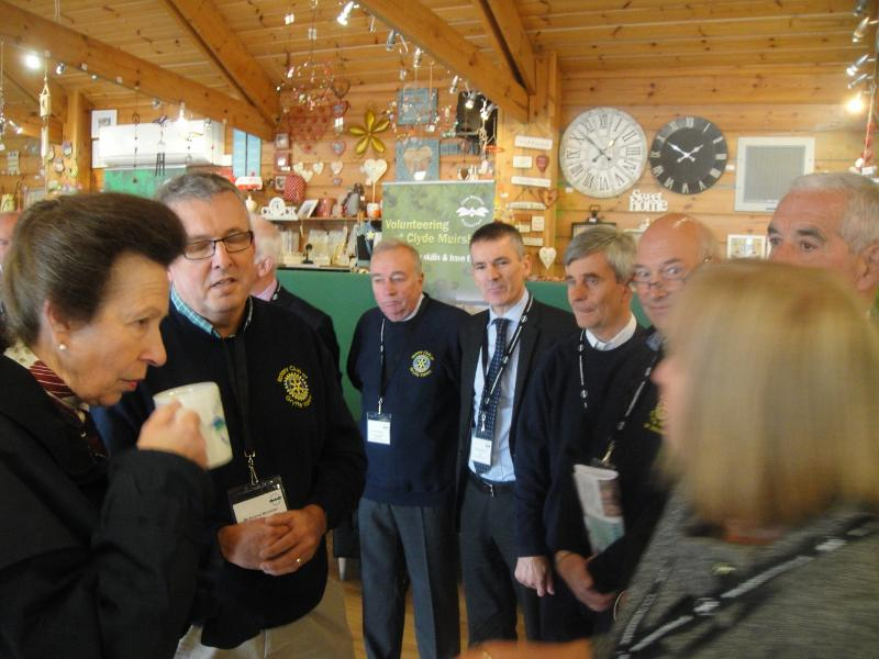 Princess Royal Visits Castle Semple - Cuppa with the Princess