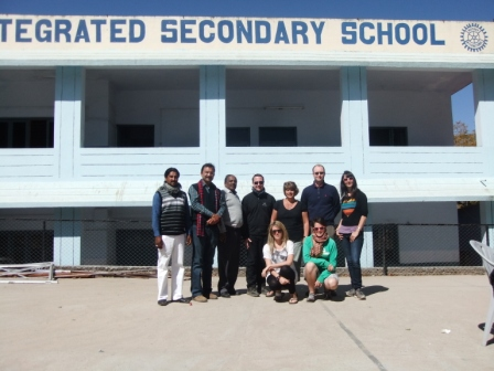 Ben's GSE visit to India - Team visiting a Rotary funded secondary school in Mt