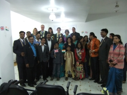 Ben's GSE visit to India - Team with Rotarian friends and family in Udaipur