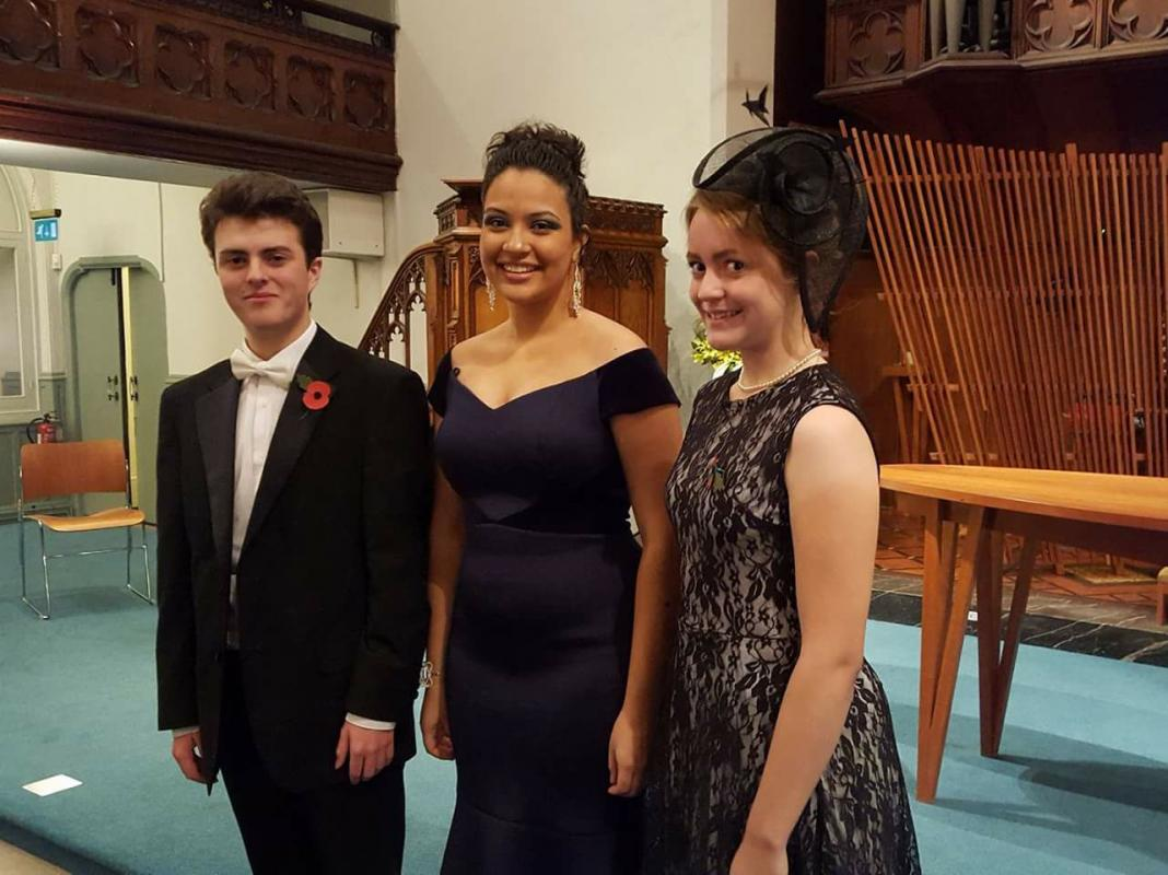 Young Musician - From left to right: Greg Steward, Eyra Norman and Ellen Steward