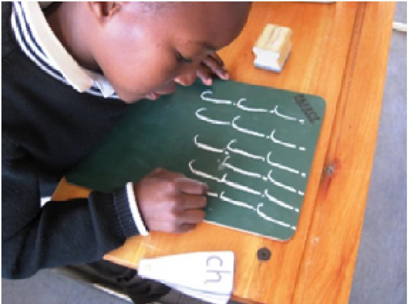 Our Work in South Africa - Term 3 - Practising writing the new sound v1
