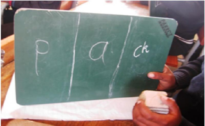 Our Work in South Africa - Term 3 - Teachers facilitating activities where children apply their knowledge of the sounds v1
