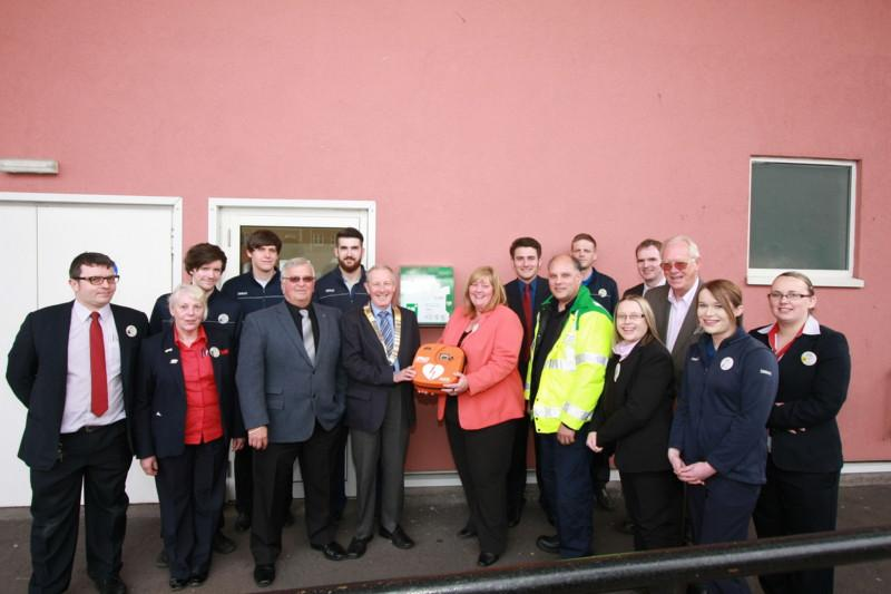 Club Photo Gallery pre July 2015 - The Club presented the town's 3rd Automatic External Defibrillator to Tesco's in May 2015