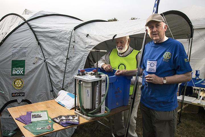 Rotary & ShelterBox at Thame Show - Collecting for charity. Photo: Ross Dike
