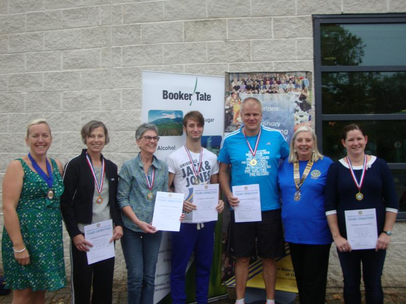 Thame Swimathon 2014 - with Nichola Dixon and Linda Emery