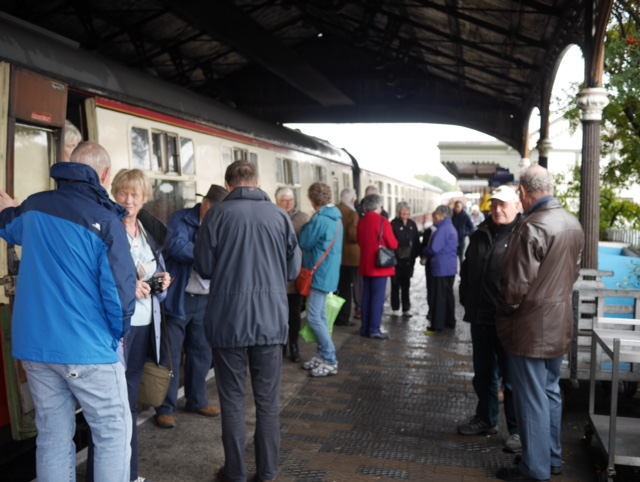 Afternoon tea on the Boness and Kinneil Railway - The Boarders