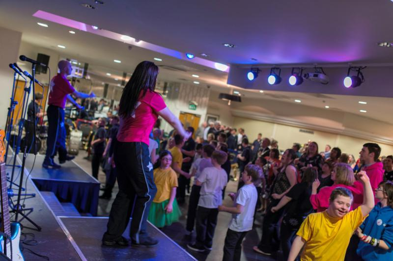 SPECIAL SCHOOLS' MUSIC FESTIVAL 2014 - The DJ's really got things bouncing.