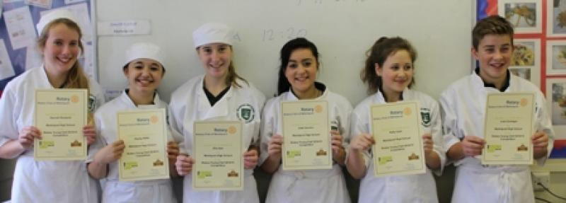 Young Chef 2014/15 - The Finalists - 2014, with their certificates.