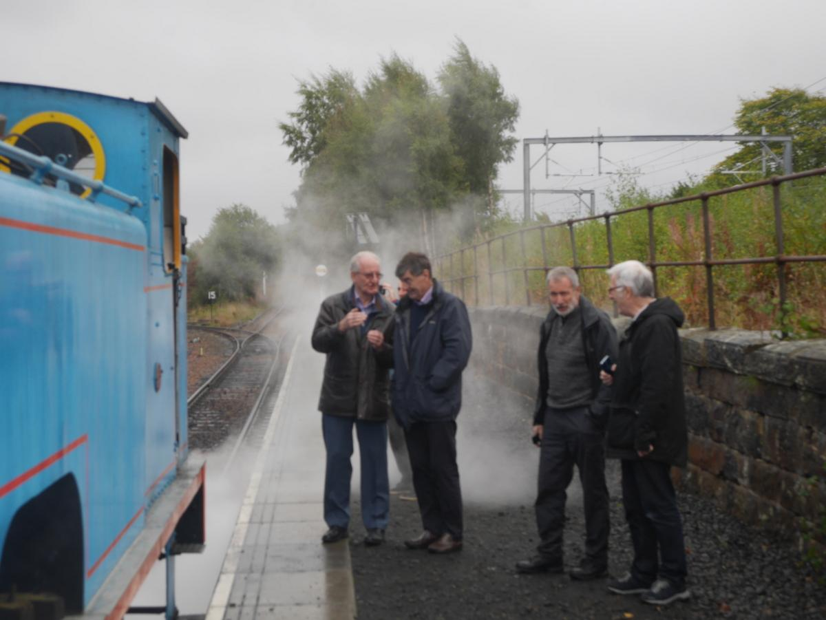 Afternoon tea on the Boness and Kinneil Railway - The Four Wise Men