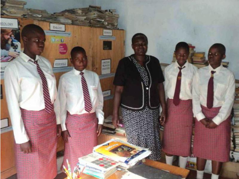 Provision of Information Technology to the St. Elizabeth Lureko Girls Secondary School in Mumias, Kenya - in their distinctive school uniforms