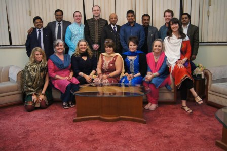 Ben's GSE visit to India - The Team with District Governor in Jaipur
