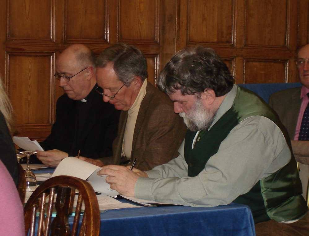 2006 Debatethon - The Three Wise Men - Dean of Guildford Victor Stock; Michael Buerk; and Matthew Alexander