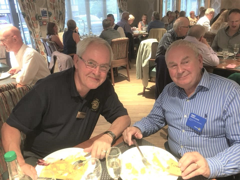 Chartering of Wych-Malbank Nantwich Rotary Club - The Tony C's enjoying their meal