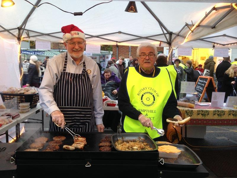We're for Communities - Our Burger Bar at the Christmas lights switch-on