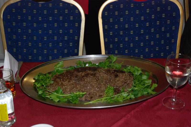 BURNS NIGHT - The haggis was delicious.
