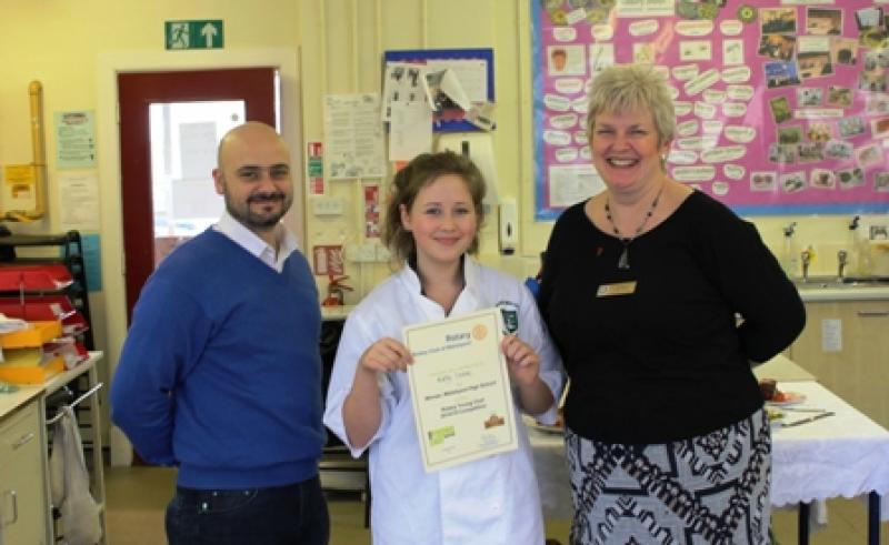 Young Chef 2014/15 - The winner, with L-R: Brian Jones - Judge, 